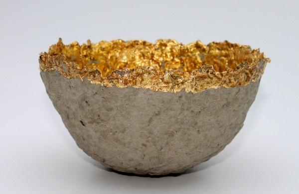 Schalen aus pappmache diy ideas pinterest - Blattgold basteln ...