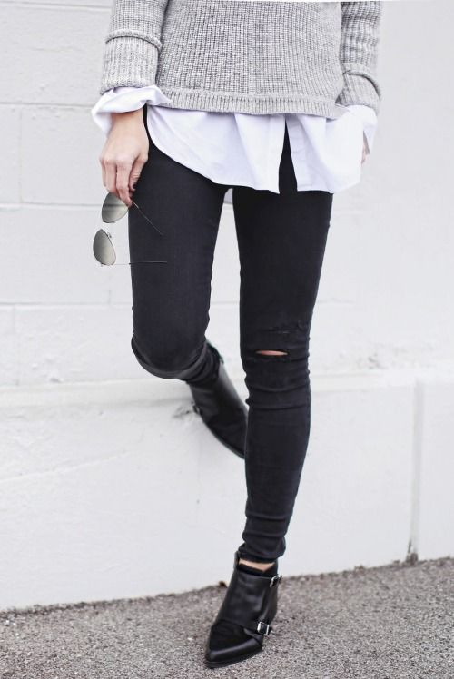black skinnies and ankle boots http://rstyle.me/n/v6k5i4ni6