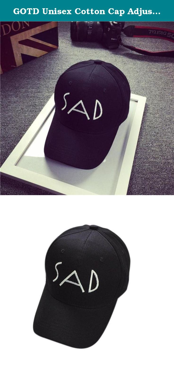 GOTD Unisex Cotton Cap Adjustable Plain Hat - Embroidery (SAD Black). Specification: 100% brand new and high quality Quantity:1PC Gender:Unisex Item type:Baseball caps Style:Casual Material:Cotton Strap type:Adjustable Pattern type:Letter Package include:1*Baseball cap .