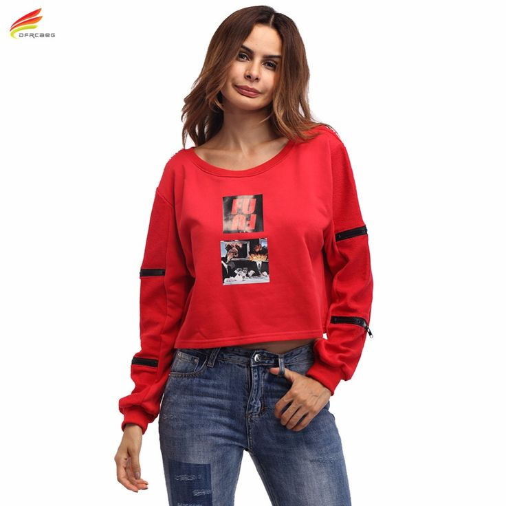 Red Women Crop Top Fashion 2017 Autumn Long Sleeve T Shirt Clothing Woman Casual Cotton Ladies Tops Harajuku Style T-Shirts #Affiliate