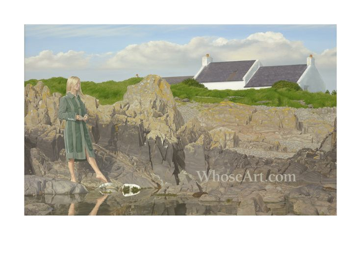 Composed on the Ards Peninsula, on the northeast coast of Ireland, the painting reproduced in this limited edition print is a testimony to Brett's observation skills and his ability to render paint 'as the eye feels'.