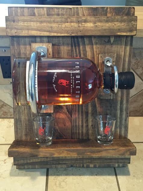 Pedleton Whiskey Rack by LJDesignsStore on Etsy