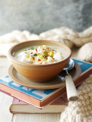 Fish, Chowder soup and Coconut on Pinterest