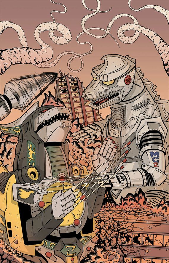 "Dragonzord vs. Mecha Godzilla- Everytime I see these types of images of MechaGodzilla fighting a different robot monster, I think ""MechaGodzilla wins, end of story."""