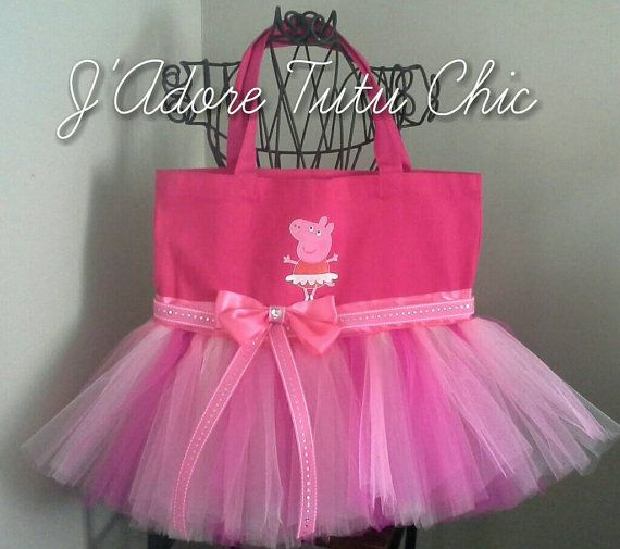 Check out this item in my Etsy shop https://www.etsy.com/listing/214618541/peppa-pig-tutu-tote-bag-birthday-gift