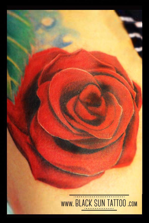 Tattoo by Black Sun Tattoo, Warsaw , Poland #rose #rosetattoo #realisticrosetattoo #redrose #flowertattoo #flowerstattoo #womenstattoo #blacksuntattoo