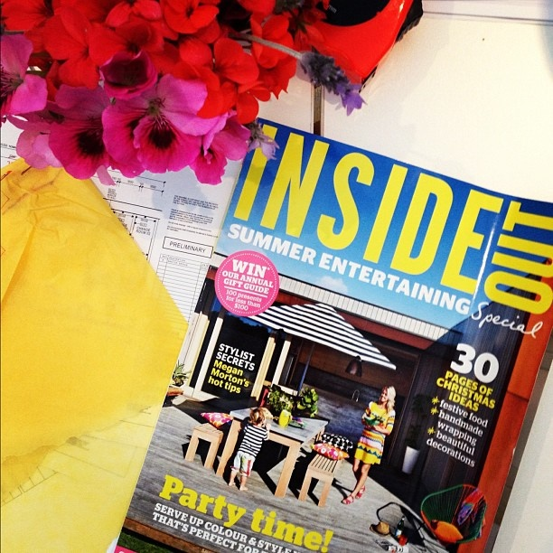 "Thanks to Doherty Lynch for your lovely Instagram: ""Loving the new issue of @insideoutmag! Featuring @beciorpin and @megan_morton perfect distraction on a Friday afternoon."""