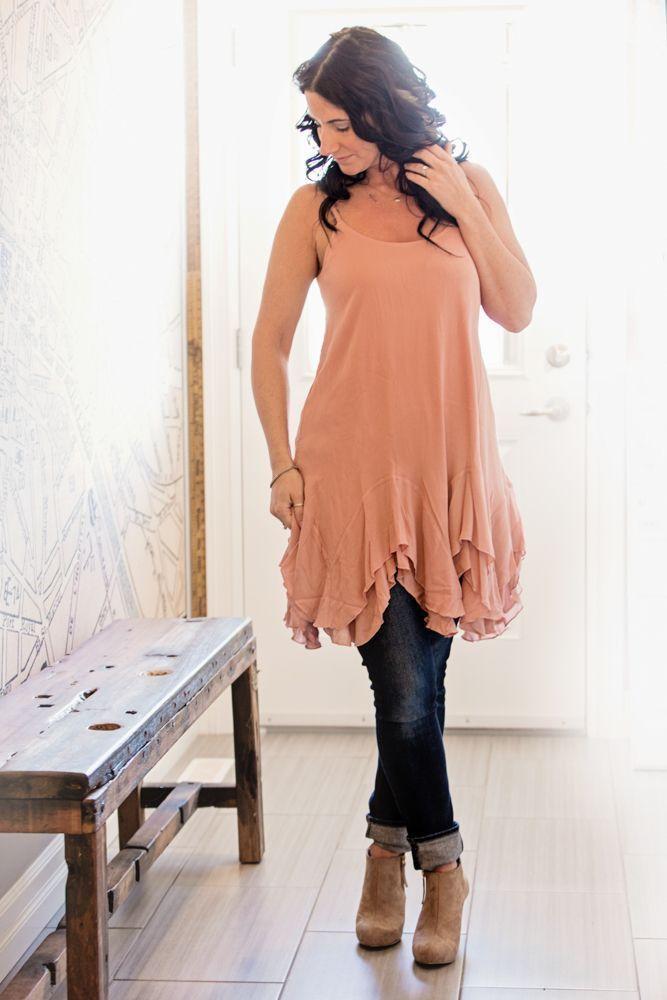 Image of Ruffle Slip Dress - Blush #boho #bohochic #bohemian #musthave #fashion #style #pretty #lovely #ruffles