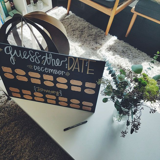 A Nontraditional Baby Shower | Every Damn Weekend - Guess the Birth Date Game
