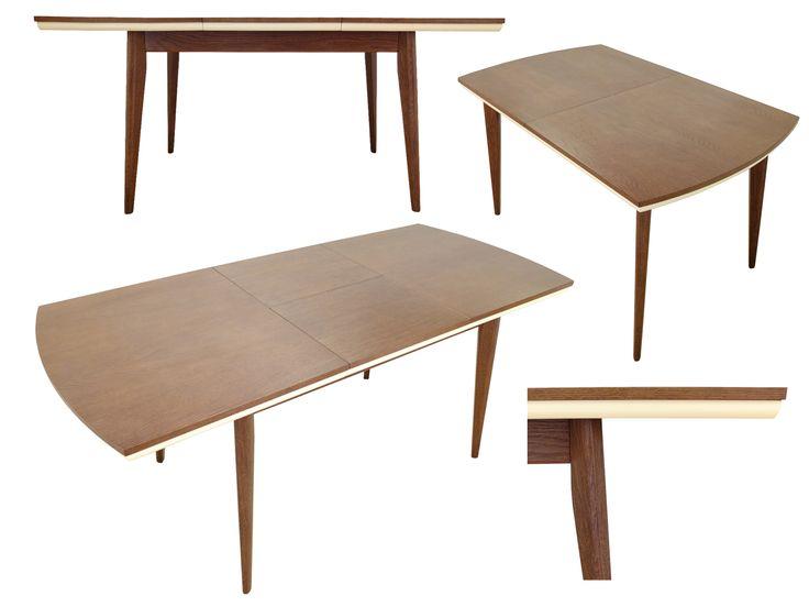 Stół (do jadalni) Björn, rozkładany, lite drewno (dąb) / Esstisch (aus Massivholz - Eichenholz) Björn ➥ Stół posiada środkową wkładkę przedłużającą blat. ➥ Die stabile und langlebige Konstruktion verfügt ausserdem über einen Auszugsmechanismus.