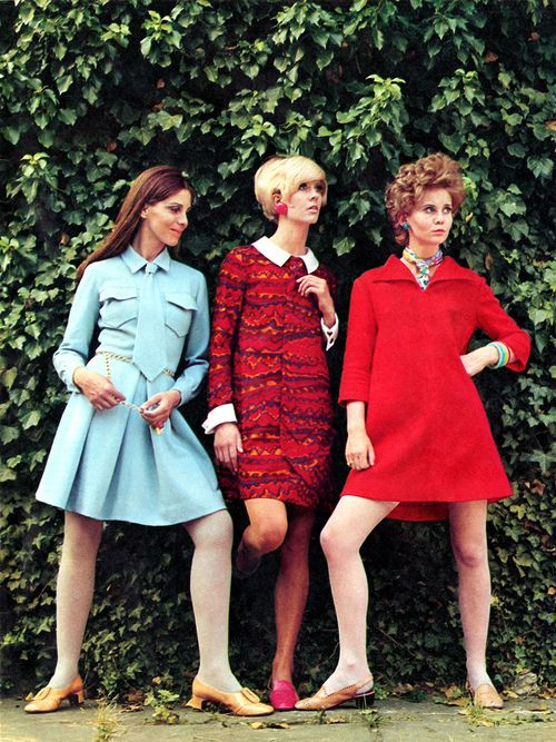 1960s Mini Dresses. Why did all the women in the 60s stand like this?
