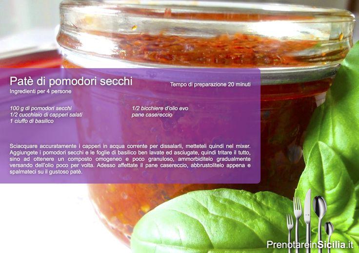 Questa Domenica Patè di Pomodori Secchi!   Buon appetito da PrenotareinSicilia.it #cucina #tradizione #ricette https://www.prenotareinsicilia.it/ricerca-list.php?dove=Agrigento