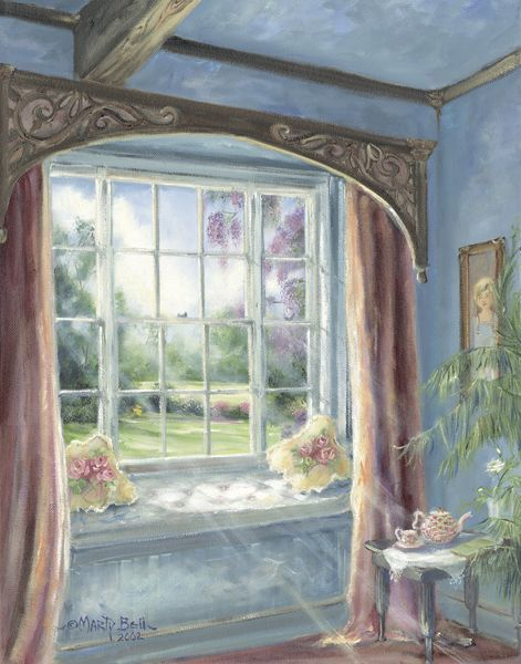 """""""Morning Tea"""" painting by: Marty Bell"""