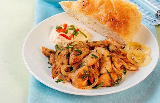 Hähnchen-Gyros mit Paprika-Quark - rezepte ohne Kohlenhydrate