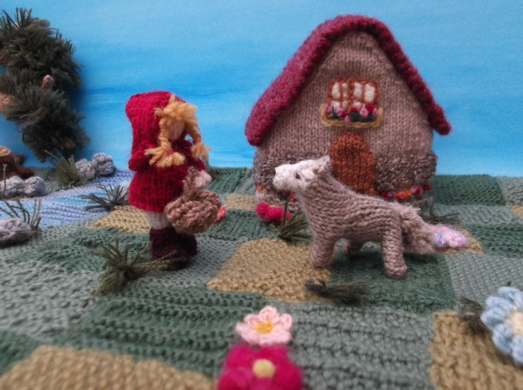 Knitted Little Red Riding Hood