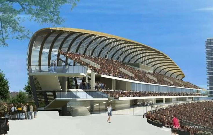 Rendering of a side view of the new stadium #OrlandoCity #IronLionFirm #GoCity #Soccer #Orlando #Tourism #Brasil
