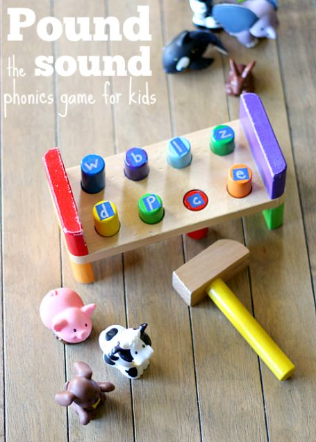 Use toys to practice phonics at home. Fun letter sounds game for kids.