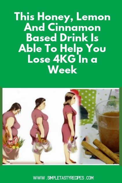 This Honey, Lemon And Cinnamon Based Drink Is Able To Help You Lose 4KG In a Week