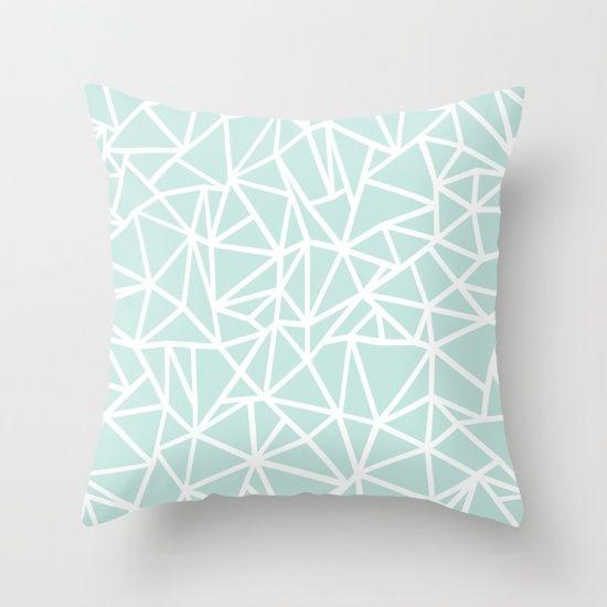 geometric pillow mint