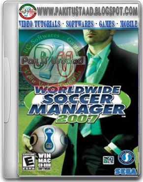 Worldwide Soccer Manager 2007 PC Game Cover