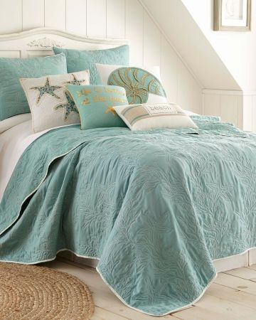 Destin Starfish Coastal Quilt Farmhouse Bedding Sets