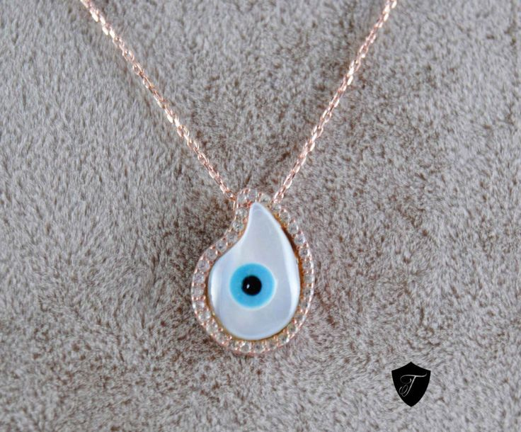 Check out Evil Eye Drop Necklace - 925 Silver Handmade Evil Eye Charm Necklace White Swarovski Rose Gold Plating Free Standart International Shipping Made with lots of love! ❤️  https://www.etsy.com/listing/232998244/evil-eye-drop-necklace-925-silver?utm_campaign=crowdfire&utm_content=crowdfire&utm_medium=social&utm_source=pinterest