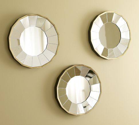 : Dining Rooms, Living Rooms, Wall Mirror, Mirror Sets, Master Bedrooms, Gilt Mirror, Rhona Round, Round Gilt, Pottery Barns