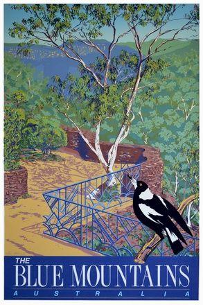 tourism poster: Magpie's view, Everglades Gardens, Leura