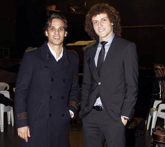 with friend Nuno Gomes