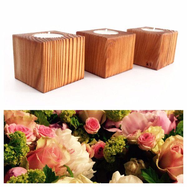 Kerzenständer - 3 Kerzenständer aus Holz - Gr. S - La Vela 1.1 - ein Designerstück von El-Palo bei DaWanda