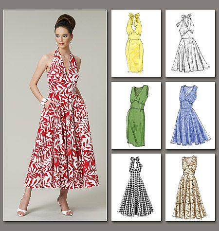 Vogue Patterns 8727 - Misses' Dress Vogue Easy Options