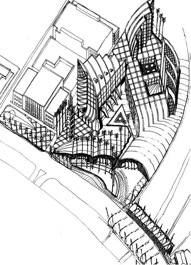 1990-SPECIAL MERIT- INTERNATIONAL PEACHTREE STREET COMPETITION,ATLANTA,GEORGIA,US | Andrzej Ludew | Archinect