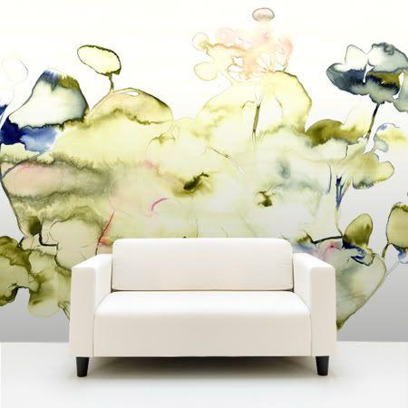http://inredningsvis.se/inspiration-tapeter/  Arty handmade wallpaper..LOVE:)
