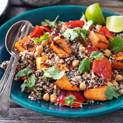 Quinoa med sötpotatis och koriander