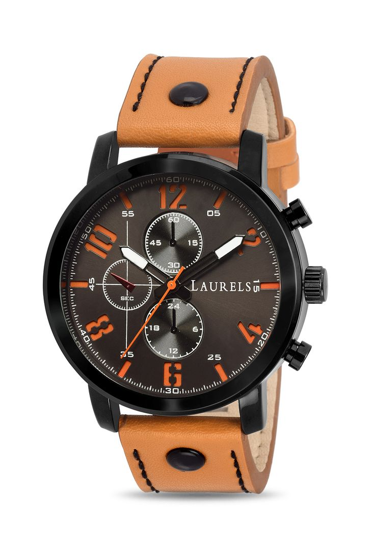 Laurels Tan Lo-Crn-III-090902 Curren lll Tan Patent Leather Analog Watch