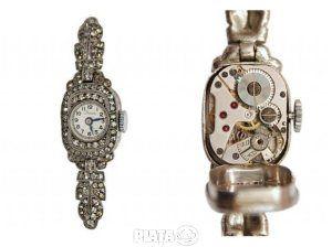 Obiecte de arta, Vanzari, cumparari, Vand ceas dama art-deco Stowa cu diamante, imaginea 1 din 3