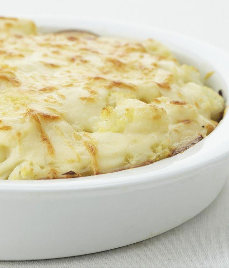 Ovenschotel met bloemkool, aardappelen en gehakt