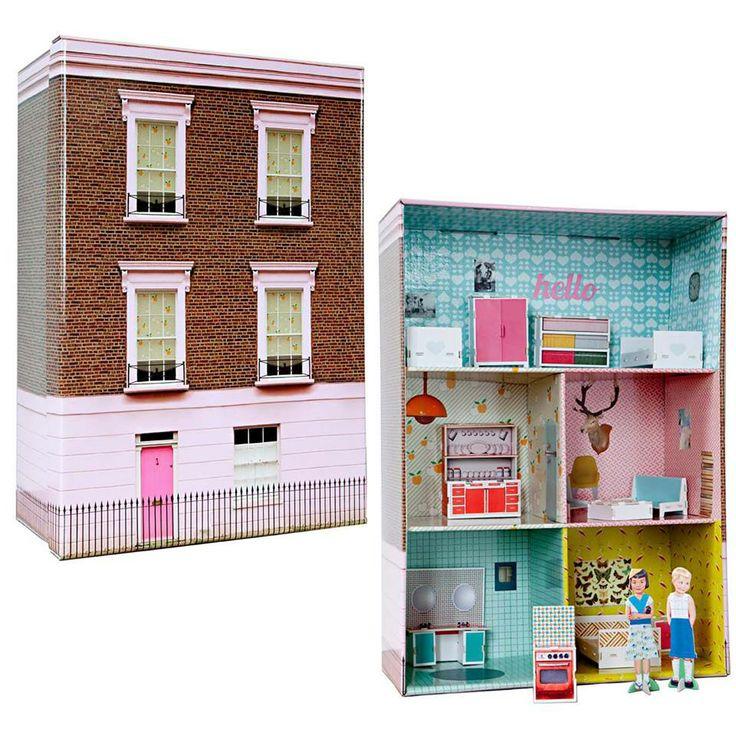 Casa de mu ecas con una caja de zapatos diy pinterest - Cajas transparentes para zapatos ...