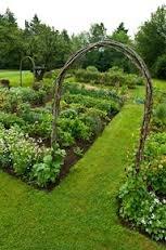 walkway to vegetable garden