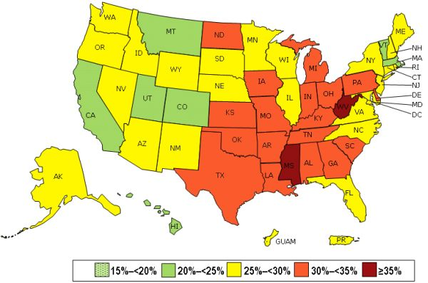 How fat is your state? 2013 CDC obesity maps show the spread. http://1.usa.gov/1sdXIrF
