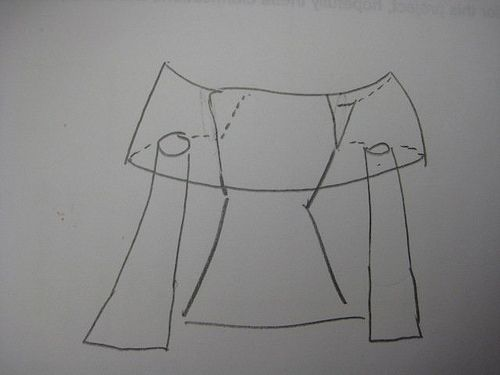 Blouse Sketch | Diagram of possible way of connecting the pi… | Flickr