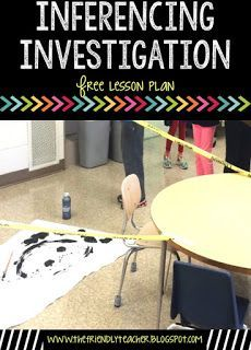 Teaching students inferencing using an investigation will help the term stick in the mind of your students! Grab the entire lesson here for free!
