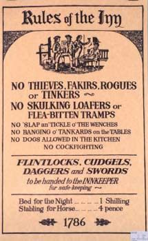 Funny poster that could be recreated for a home pub