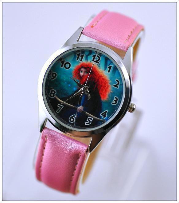 Disney Pixar Brave Princess MERIDA Girl Steel Fashion Watch Wrist 167 #Unbranded #Fashion