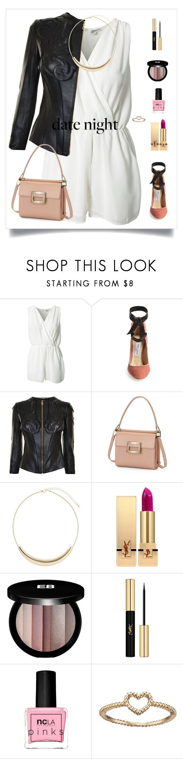 """fofa shine - date night"" by fofa-cute-vip ❤ liked on Polyvore featuring Glamorous, Jimmy Choo, Versace, Wallis, Yves Saint Laurent, Edward Bess, ncLA and LC Lauren Conrad"