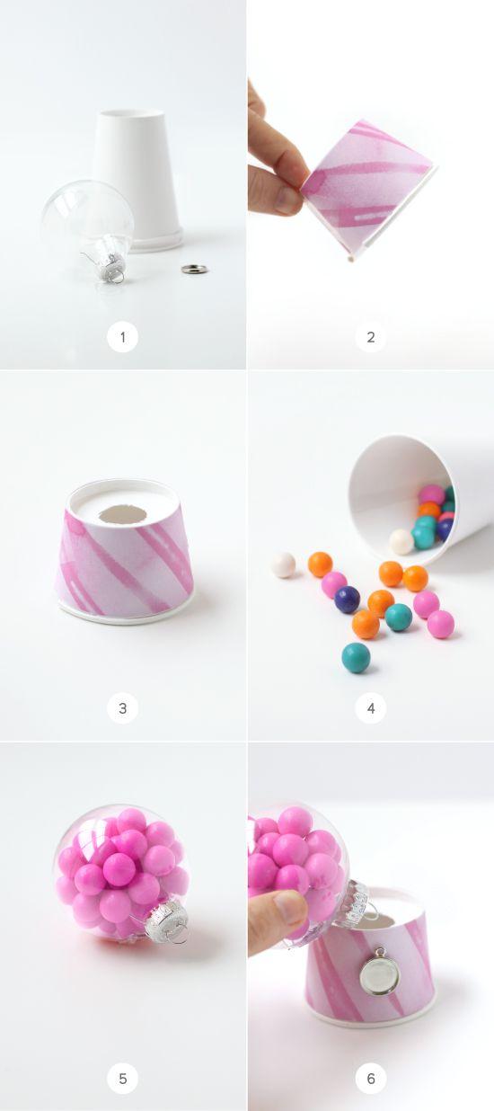 diy bubble gum machine