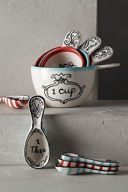 Crowned Leaf Measuring Cups #anthrofave