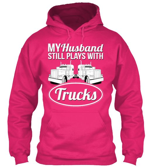 My Husband Still Plays With Trucks!  Love this - we need to sell this one indeed!  #Pink #Trucks #Kenworth http://www.wallworktrucks.com