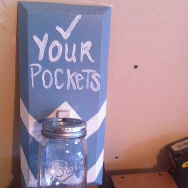 Change jar for laundry room: Diy Ideas, Laundry Rooms