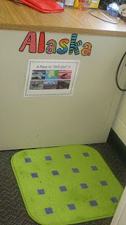 """Alaska- A Place to Chill Out."" Cute idea for a cool down spot. Can the teacher hang out there?"